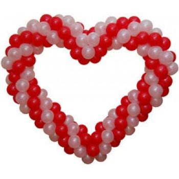 Сердце из шаров (1,5 метр)