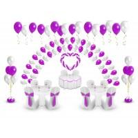 Пакет праздничный супер (200 шаров + сердце)