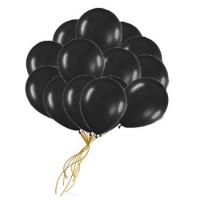 Шары с гелием  черные (30 см) 50 шт.