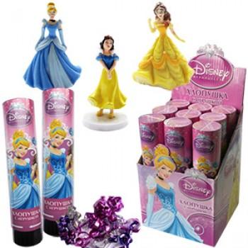 Хлопушка пружинная Дисней Принцессы с игрушкой (21см)