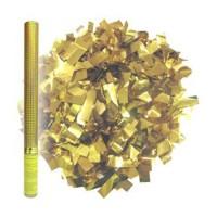 Пневмохлопушка в пластиковой тубе Золотое конфетти (60см)