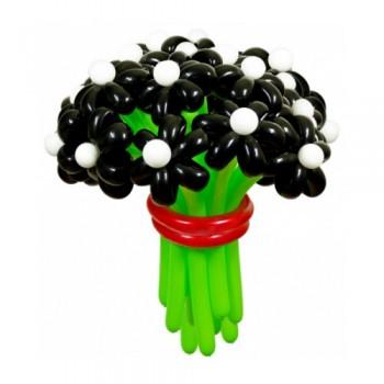 """Цветы из шаров """"Черная жемчужина"""" 25 шт."""