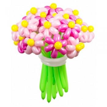 """Цветы из шаров """"Розовые мечты"""" 25 шт."""
