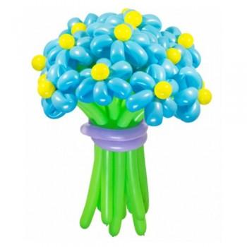 """Цветы из шаров """"Голубое небо"""" 25 шт."""