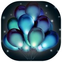 """Шары с гелием светящиеся """"Нежно голубые"""" (35 см) 50 шт. Самые лучшие"""