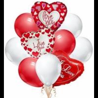 """Композиция из шаров """"Для влюблённых"""" 25 шт."""