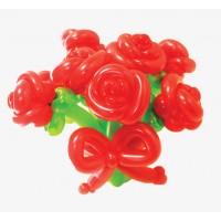 """Корзинка с цветами из воздушных шаров """"Семь роз"""""""