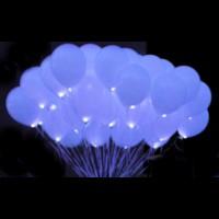 """Светящиеся шары с гелием """"Белые Vip"""" (35 см) 50 шт."""