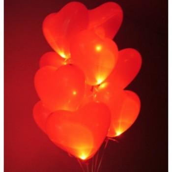 """Шары с гелием """"Живые сердца"""" мигающие   (40 см) 50 шт. Очень классные !!"""