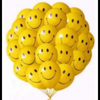 "Шары с гелием ""Смайлы улыбки"" (35 см) 50 шт."