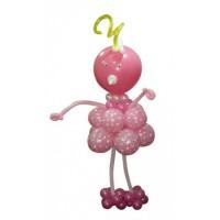 """Фигура из шаров """"Розовая ляля"""""""