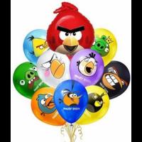 """Композиция из шаров """"Angry Birds"""" 25 шт."""