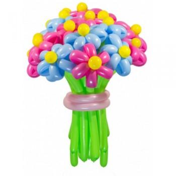"""Цветы из шаров """"Яркие краски"""" 25 шт."""