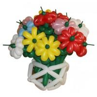 """Корзина с цветами из воздушных шариков """"Лето"""""""