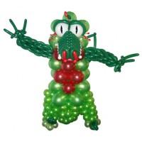 """Фигура из шаров """"Зеленый дракон"""""""